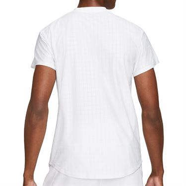 Nike Court Breathe Advantage Shirt Mens White/Black CV5032 100