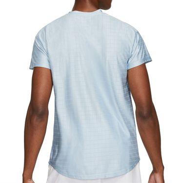 Nike Court Breathe Advantage Shirt Mens Lt Armory Blue/Black CV5032 440