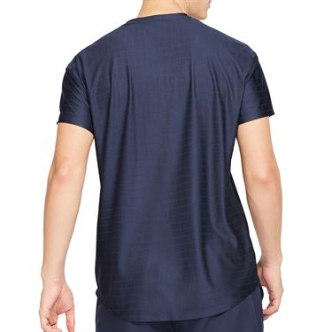 Nike Court Breathe Advantage Shirt Mens Obsidian/White CV5032 451