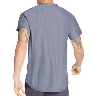 Nike Court Breathe Advantage Shirt Mens Indigo Haze/White CV5032 519