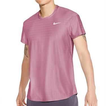 Nike Court Breathe Advantage Shirt Mens Elemental Pink/White CV5032 698