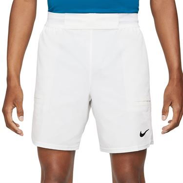 Nike Court Dri FIT Advantage Short Mens White/Black CV5046 100