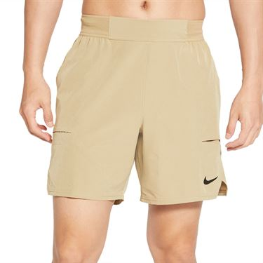 Nike Court Dri FIT Advantage Short Mens Parachute Beige/Black CV5046 297