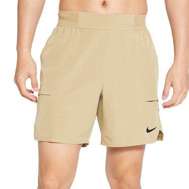 Nike Court Dri FIT Advantage Short Mens Parachute Beige/Black CV5046 297