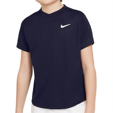 Nike Court Boys Dri Fit Victory Tee Shirt Obsidian/White CV7565 451