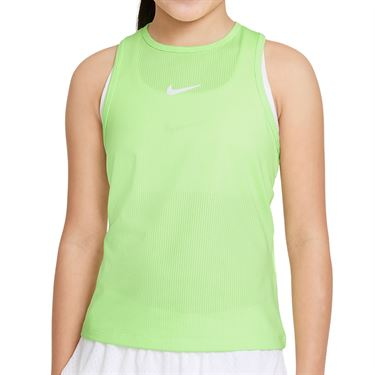 Nike Court Girls Dri Fit Victory Tank Lime Glow/White CV7573 345