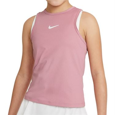 Nike Court Girls Dri Fit Victory Tank Elemental Pink/White CV7573 698