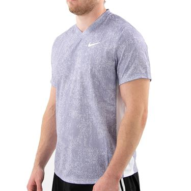 Nike Court Dri FIT Victory Shirt Mens Indigo Haze/White CV7858 519