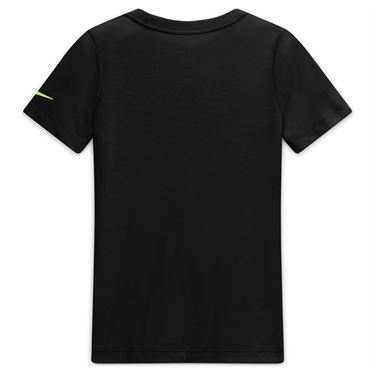 Nike Boys Court Dri Fit Rafa Tee Shirt Black/Volt CW1521 010