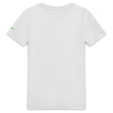 Nike Boys Court Dri Fit Rafa Tee Shirt White/Green Strike CW1521 100