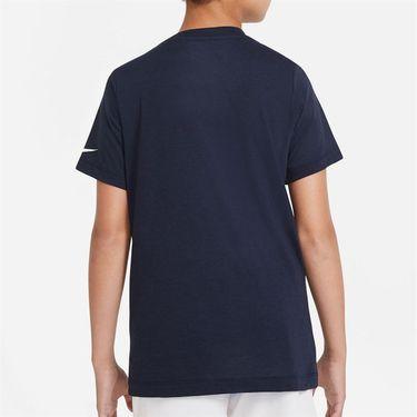 Nike Boys Court Dri Fit Rafa Tee Shirt Obsidian CW1521 451
