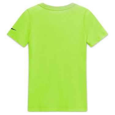 Nike Boys Court Dri Fit Rafa Tee Shirt Volt/Black CW1521 702