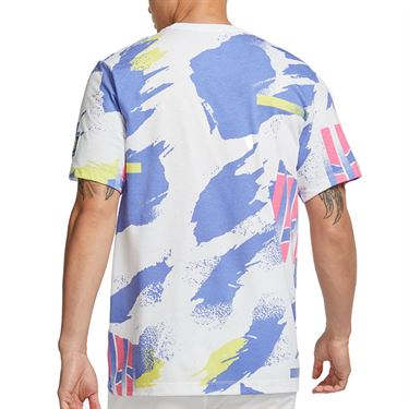 Nike Challenge Court T-Shirt - White/Pink Foil/Sapphire/Solar Red