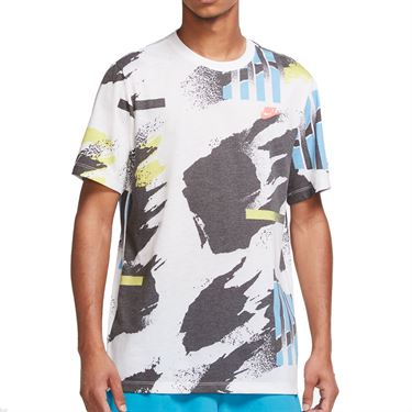 Nike Challenge Court Tee Shirt - White/Black/Neo Teal/Solar Red