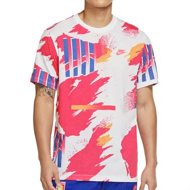 Nike Challenge Court Tee Shirt  - White/Ultra Marine/Solar Red