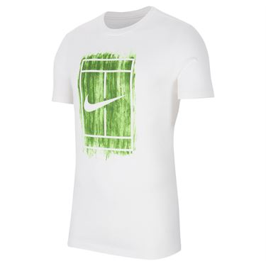 Nike Court Tee Shirt Mens White CW1528 100