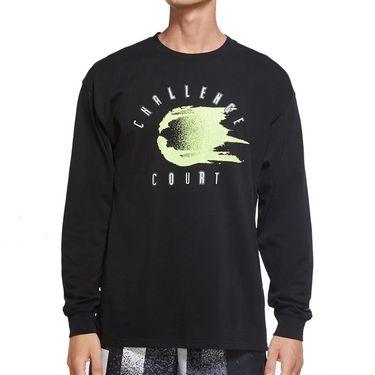 Nike Court Long Sleeve Challenge Court T-Shirt - Black