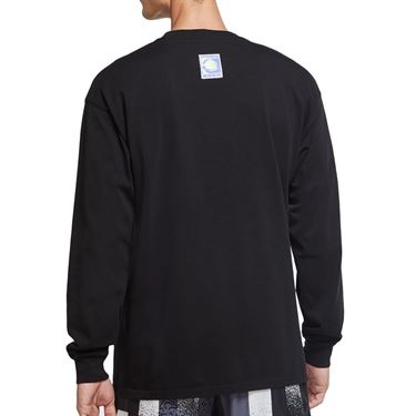 Nike Court Long Sleeve Challenge Court T-Shirt - Black