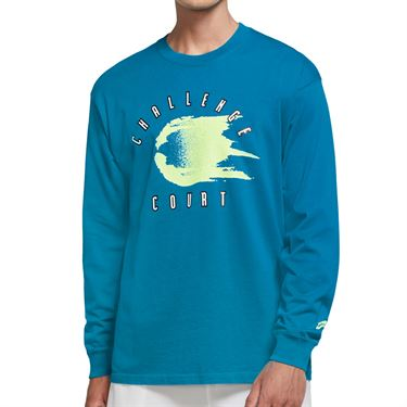 Nike Court Long Sleeve Tee Shirt Mens Neo Turquoise CW1530 425