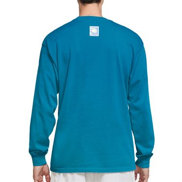 Nike Court Long Sleeve Tee Shirt Mens Neo Turquoise CW1530 425