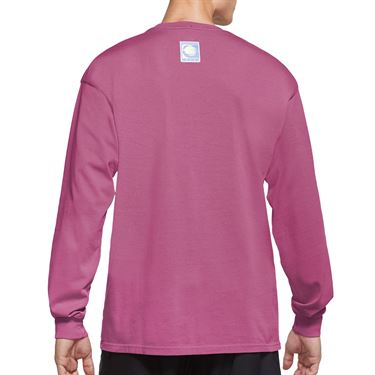 Nike Court Long Sleeve Tee Shirt Mens Laser Fuchsia CW1530 686