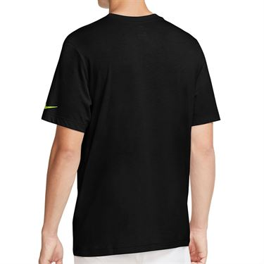 Nike Court Dri Fit Rafa Tee Shirt Mens Black/Volt CW1534 010