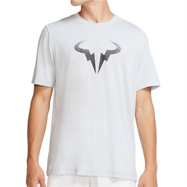 Nike Rafa Tee Shirt Mens Sky Grey/Black CW1534 042