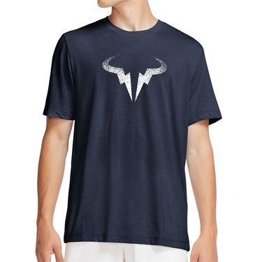Nike Rafa Tee Shirt Mens Obsidian/White CW1534 451