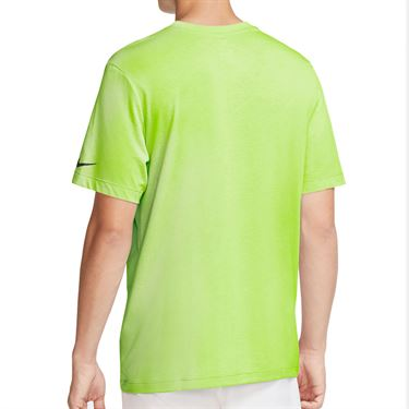 Nike Court Dri Fit Rafa Tee Shirt Mens Volt/Black CW1534 702