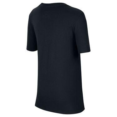 Nike Boys Court Tee Shirt Black/Volt/Neo Turquoise CW1538 010