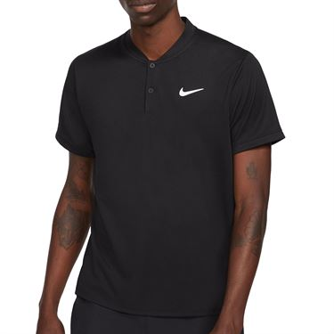Nike Court Dri FIT Shirt Mens Black/White CW6288 010