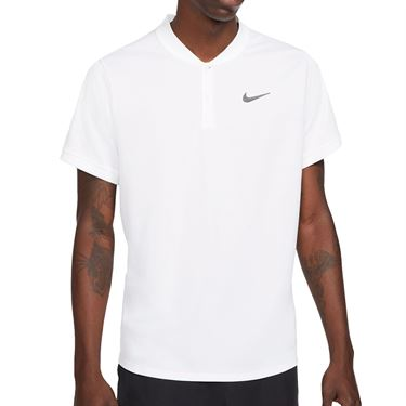 Nike Court Dri FIT Polo Shirt Mens White/Black CW6288 100