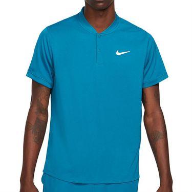Nike Court Dri FIT Shirt Mens Green Abyss/White CW6288 301