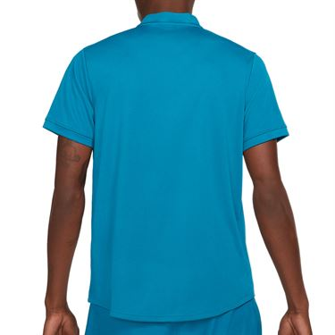 Nike Court Dri FIT Shirt Mens Green Abyss/White CW6288 301