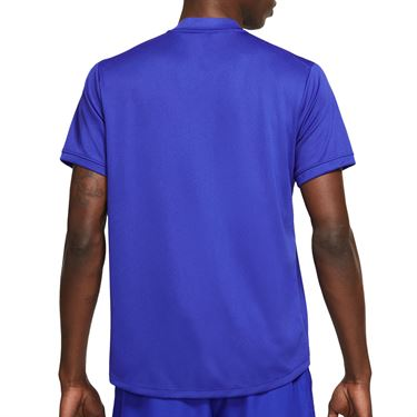 Nike Court Dri FIT Shirt Mens Concord/White CW6288 471