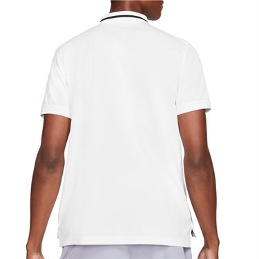 Nike Court Dri FIT Victory Polo Shirt Mens White/Black CW6848 100