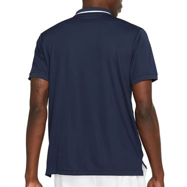 Nike Court Dry Victory Polo - Obsidian/White