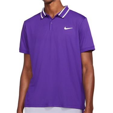 Nike Court Dri FIT Victory Polo Shirt Mens Court Purple/White CW6848 547