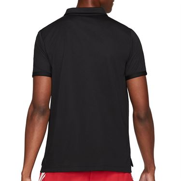 Nike Court Dri FIT Victory Polo Shirt Mens Black/White CW6849 010