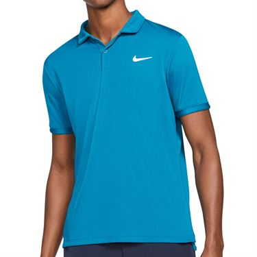 Nike Court Dri FIT Victory Polo Shirt Mens Green Abyss/White CW6849 301