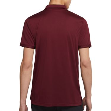 Nike Court Dri FIT Victory Polo Shirt Mens Dark Beetroot/White CW6849 638