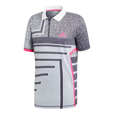 adidas Seasonal Polo - White/Shock Pink