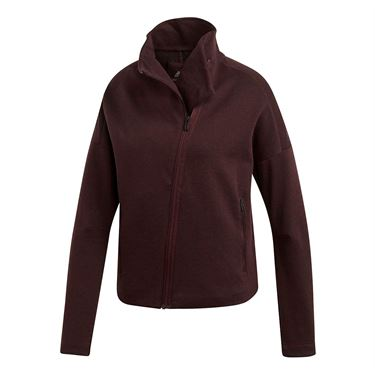 adidas Heather Cowl Neck Jacket - Night Red/Black