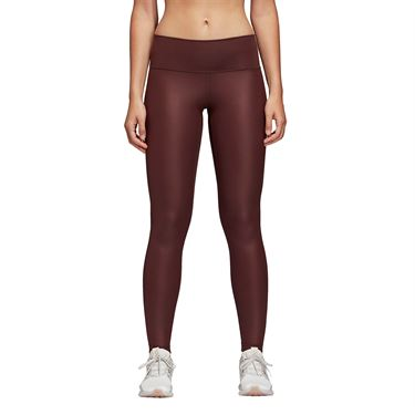 adidas Believe This Liquid Shine Legging - Night Red