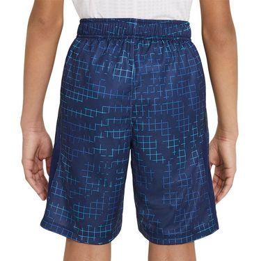 Nike Dri FIT Boys Short Blue Void/Barely Volt DA0264 492