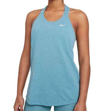 Nike Dri FIT Tank Womens Cerulean/White DA0370 424