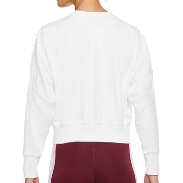 Nike Long Sleeve Crop Top Womens White/Clear DA0447 100