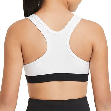Nike Swoosh Girls Sport Bra White/Pure Platinum DA1030 100