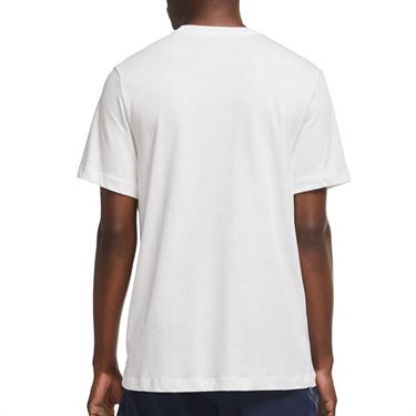 Nike Court Seasonal Energy Tee Shirt Mens White/Black DA5318 100
