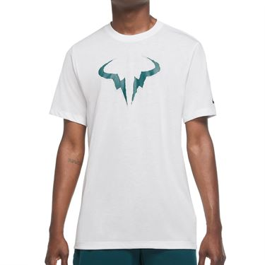 Nike Court Rafa Tee Shirt Mens White/Teal DA5399 100